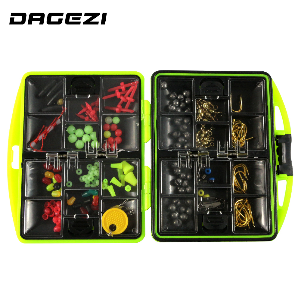 DAGEZI lure set Rock Fishing Accessories Box Surf Casting fishing tackle box Swivel Jig Hooks fishing tools set