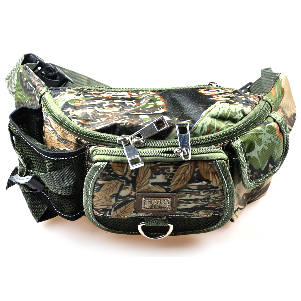 Fishing tackle bag army green camouflage 420d pvc multi for Discount fly fishing gear