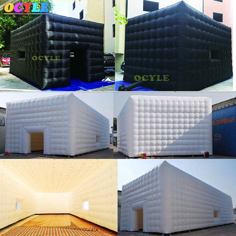 цена на free shipping 8m diameter oxford cloth inflatable igloo tent, inflatable dome tent for events