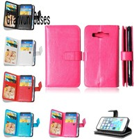 For Samsung Galaxy J5 J500F J500 Business Luxury Magnetic Clasp Leather Wallet Cover Case With Card