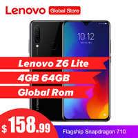 Lenovo Z6 Lite 6.3 ''4 GB 64GB Smartphone Octa Core Triple caméra arrière 19.5: 9 Waterdrop 4050mAh 4G LTE OTA téléphone Mobile