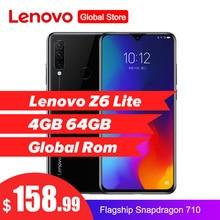 Lenovo Z6 Lite 6.3 4 GB 64GB smartfon Octa rdzeń potrójne z powrotem kamery 19.5: 9 Waterdrop 4050mAh 4G LTE OTA telefon komórkowy