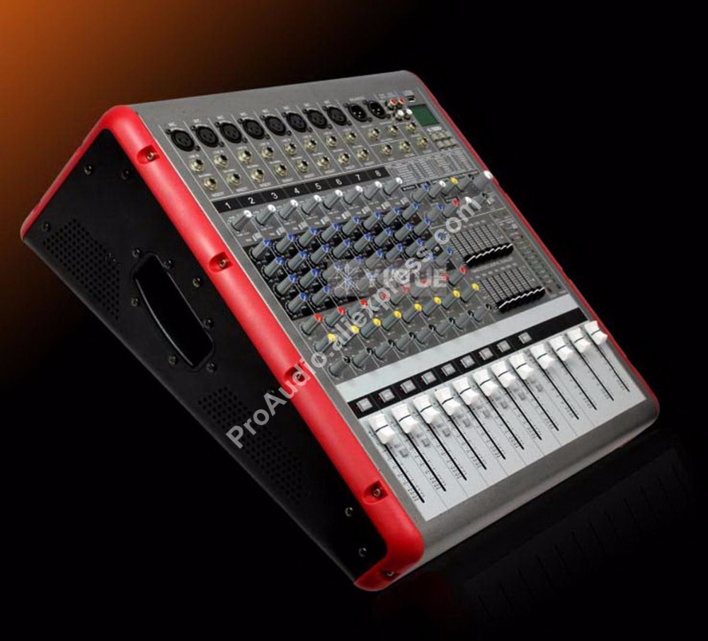 Pro Super Power 3200W Power Amplifier 8 Channel Mixing Console Bluetooth / USB / PC / Record Live Studio Audio Mixers Mixer professional 4 channel live mixing studio audio sound console network anchor portable mixing device vocal effect processor