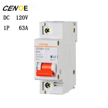 1p 63a 80a 100a 125a Dc 120v Electric Vehicle Breaker Mini Circuit With Short And Overload Protection