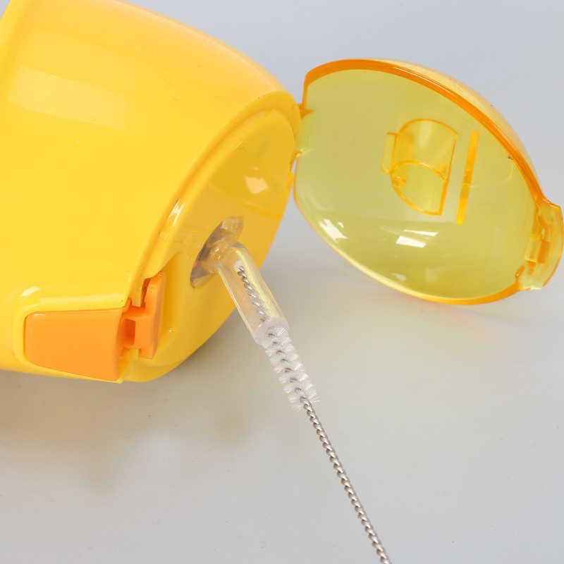 Houkiper 5PCS Herbruikbare Stro Schoonmaak Borstels Roestvrij Staal Wassen Drinken Pijp Stro Borstel Cleaner Keuken Accessoires