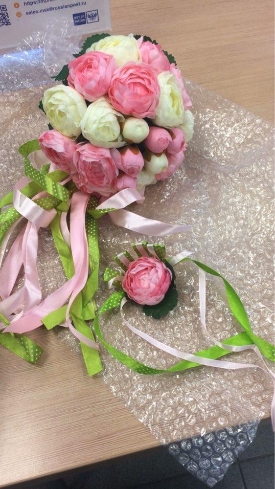 Rose Flowers Bridal Wedding Bouquets 20 Handmade Flowers Wedding - Bruiloft accessoires - Foto 6