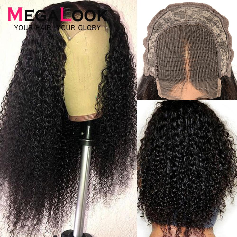 Curly <font><b>Human</b></font> <font><b>Hair</b></font> <font><b>Wig</b></font> Closure <font><b>Wigs</b></font> For Black Women 30 Inch <font><b>Lace</b></font> closure <font><b>Wig</b></font> Remy Megalook <font><b>180</b></font>% <font><b>Density</b></font> Peruvian 4x4 Closure <font><b>Wig</b></font> image