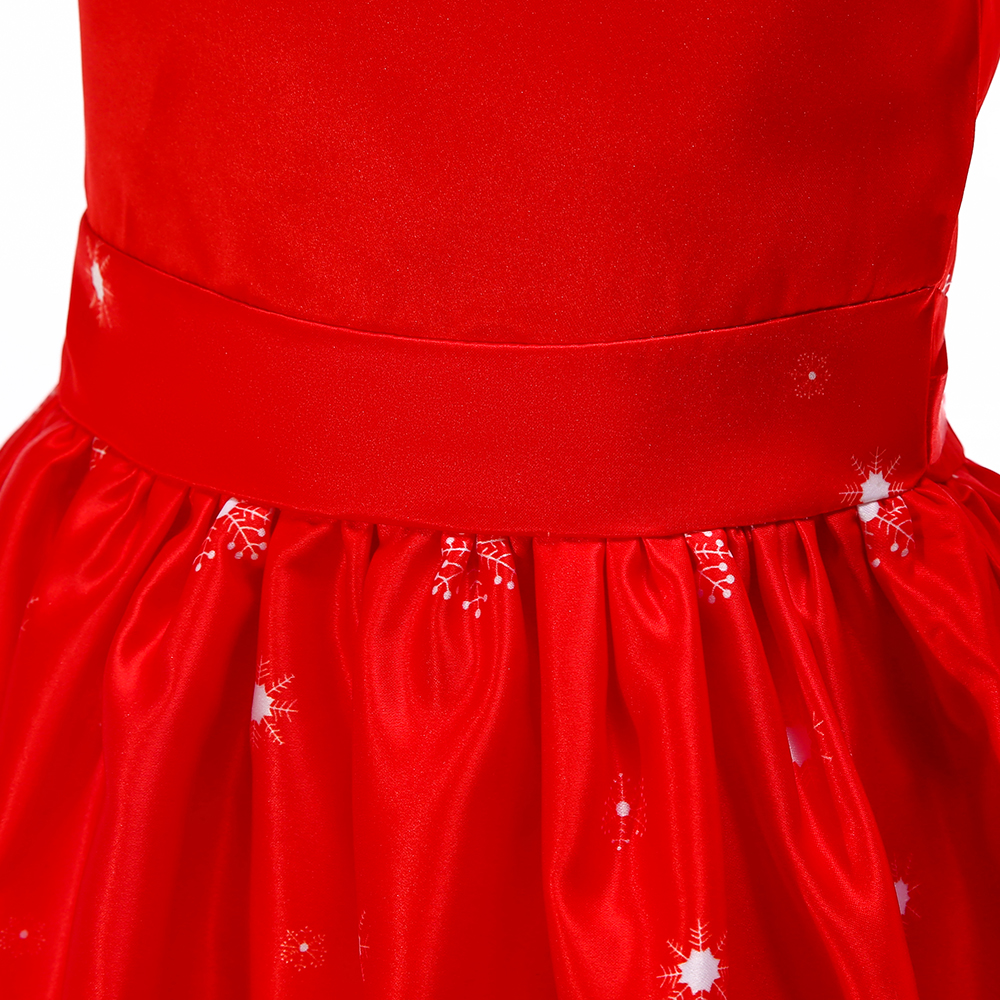 c4966c966 BAOHULU Girls Christmas Rudolph Red Lace Dress Tutu Baby Kids New ...