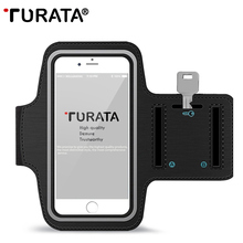 TURATA Waterproof Sports Arm Band Case for iPhone 8 7 6S Plus for Samsung Galaxy S8 S7 S6 Universal Running Case with Key Holder