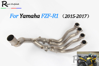 New R1 Motorcycle Exhaust Muffler Modified Scooter Front Pipe Slip On Muffler Exhaust For YAMAHA R1 FZN 2015 2017 Exhaust