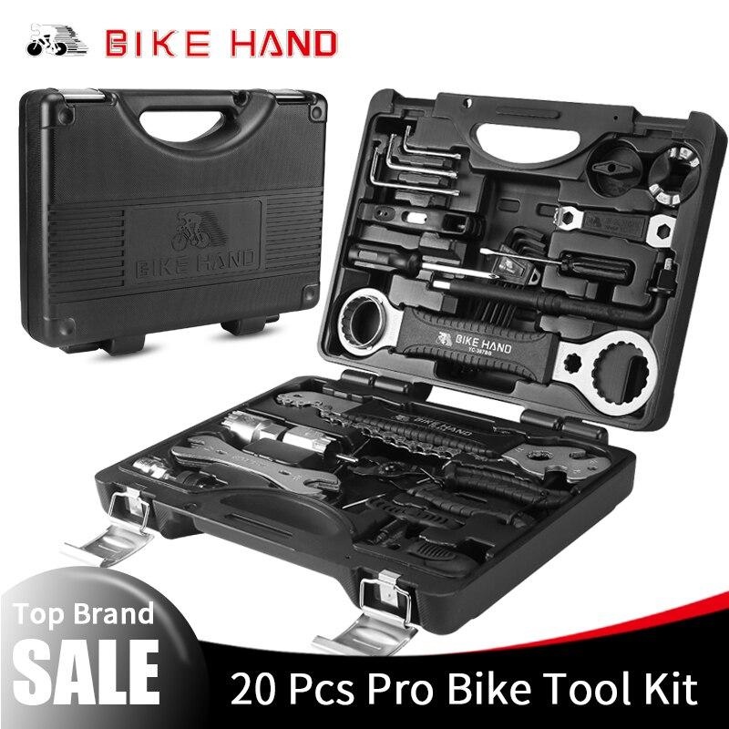 BIKE HAND 18 in 1 Fiets Reparatie Tools Kit Box Set Multi MTB Band Keten Reparatie Gereedschap Spaaksleutel Kit hex Schroevendraaier Bike Gereedschap