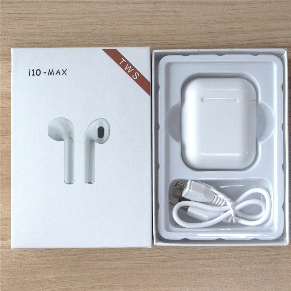 MINGGE HOT i10 Max TWS Bluetooth headset Wireless earphones Double Earbuds headphone With Charging Box for all smart phone