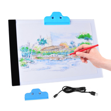 Quality Pratical 4mm Ultrathin A4 LED Light Pad Copy Pad Drawing Tablet LED Tracing Painting Board Light Box Without Radiation стоимость