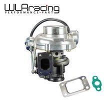Wlrレーシング GT3076R内部ウエストゲートターボチャージャーa/r:。70/。50 コールド、。86 ホット、t25/28 フランジvバンドWLR TURBO33