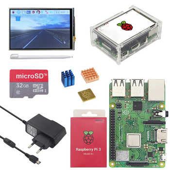 オリジナルラズベリーパイ 3 モデル B プラス WiFi & Bluetooth + 3.5 インチのタッチスクリーン + 電源アダプタ + ケース + ヒートシンクためパイ 3 B プラス 3B +