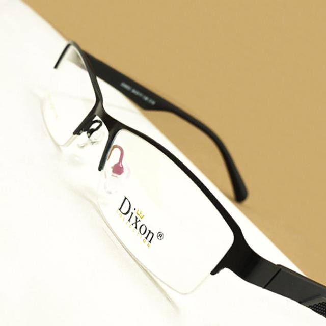 Negro/Arma/Estrecha Marrón Rectangular de Metal Medio borde de la Prescripción Óptica MARCOS de ANTEOJOS Hombres Gafas RX Spectacle D9853 Eyewear