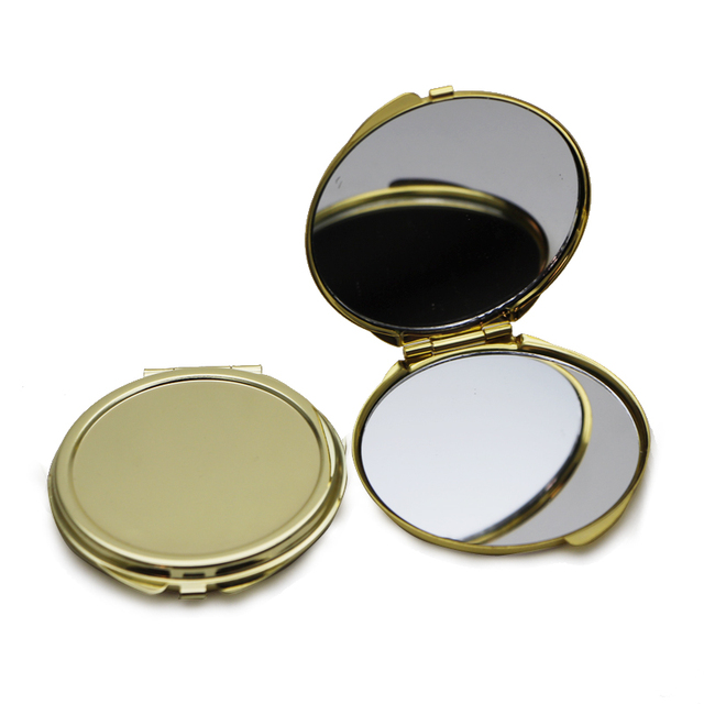 Round Gold Compact Makeup Mirror Pretty Las Handbag Mirrors M0832g
