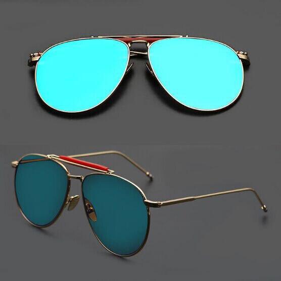 6da13e0f2911 THOM BROWNE Flat Top Mirror Sun Glasses Men High Quality Royal Sunglasses  Women Brand Designer Retro Gafas Oculos de sol