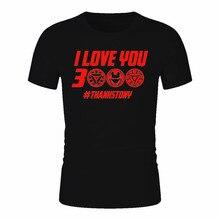 Iron Man I Love You 3000 Thanks Tony T Shirts Men/women Stark Superhero T-shirt Hip Hop Tshirt Unisex Top Tees Male/female