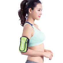 Excessive Elastic Waterproof Cell Cellphone Operating Arm Bag Jogging Sport Armband Fitness center Arm Band Case Cowl For Lady Man IPhone 6/6 Plus