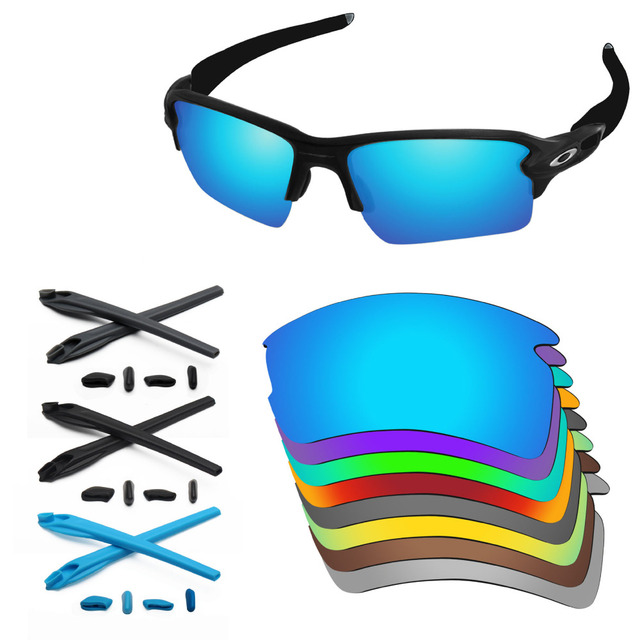 55cbea1090 PapaViva Replacement Lenses and Rubber Kit for Authentic Flak 2.0 XL Sunglasses  Frame - Multiple Options