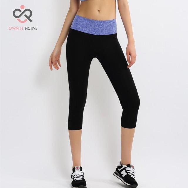 1ec1a3c0fdfac New Tone Stretchy Breathable Sports Gym Yoga Leggings Pants Three Quarter  Length Stylish Modern Design NylonMaterial P003
