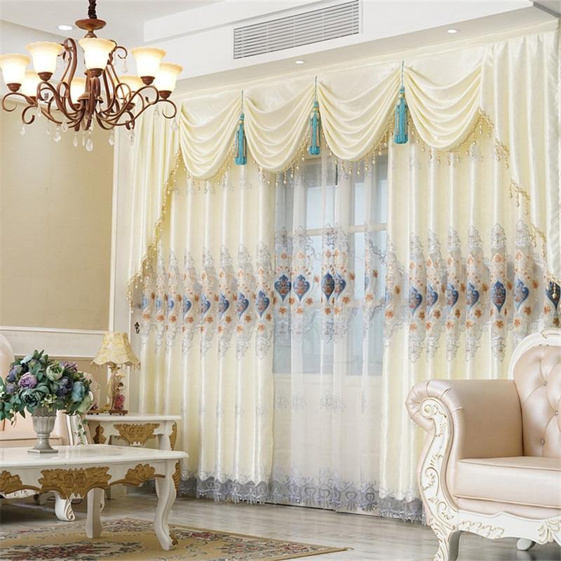 Custom Curtains Luxury European Water Soluble Openwork