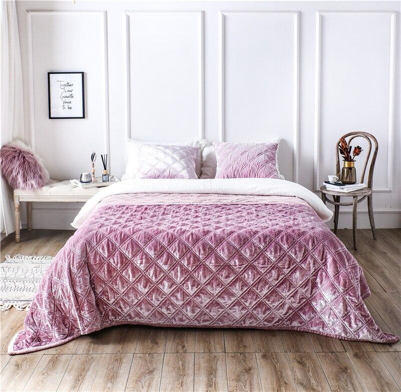 Couvre-lit en tissu polaire de Style européen de luxe taies d'oreiller drap de lit couverture de lit colchas para cama couvre lit