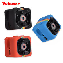 SQ11 Mini Camera HD 1080P Night Vision Camcorder Car DVR Infrared Video Recorder Sport Digital Camera Support TF Card DV Camera(China)