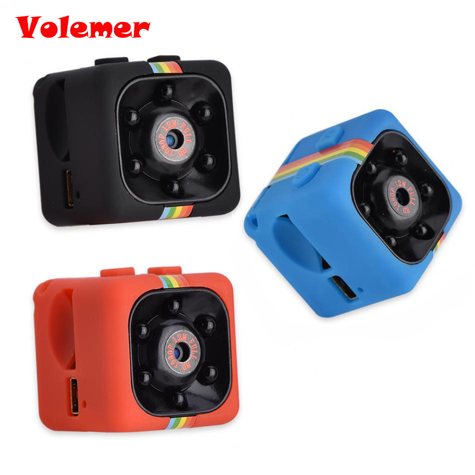 SQ11 Mini Camera HD 1080P Night Vision Camcorder Car DVR Infrared Video Recorder Sport Digital Camera Support TF Card DV Camera