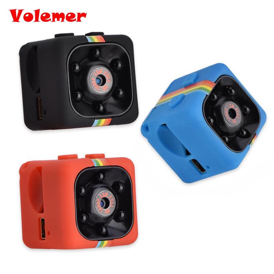 SQ11 Mini cámara HD 1080 p de la visión nocturna de la cámara del coche DVR de grabadora de vídeo deporte Digital cámara apoyo TF Tarjeta de cámara DV
