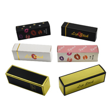 50Pcs Foldable Mini Kraft Paper Boxes 2*2*8.5cm Gift Lipstick DIY Packing Paperboard Boxes for Wedding Party Decorative Package