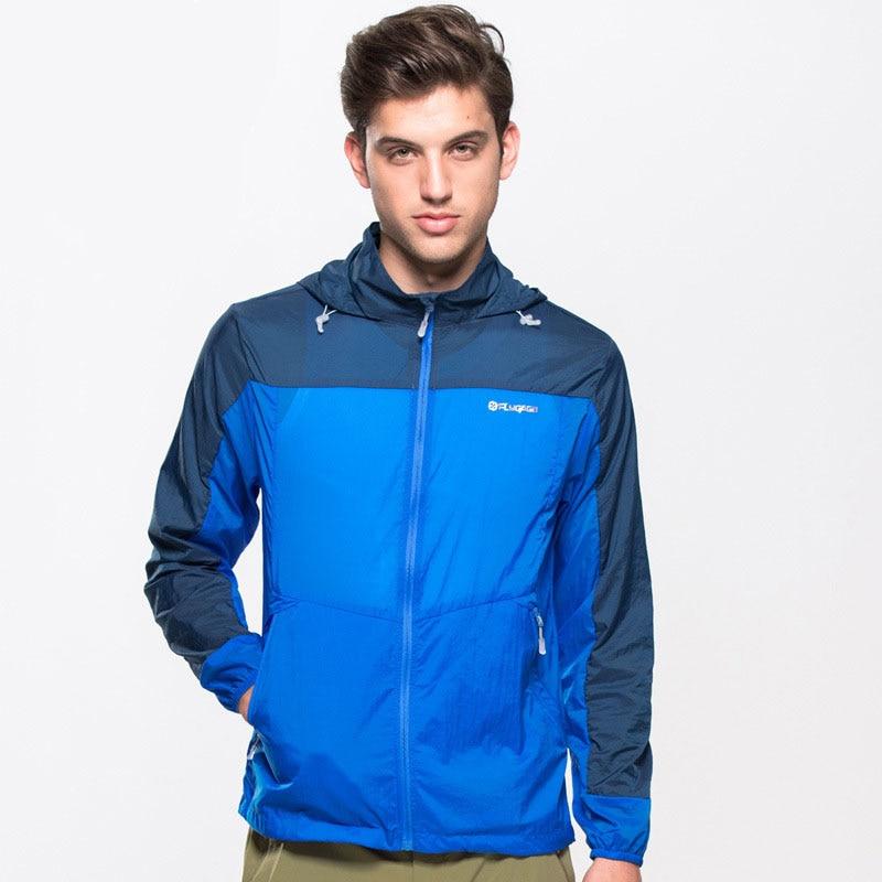 Men's Summer Quick Dry Breathable Jackets Outdoor Sport Skin Windbreaker Camping Hiking Fishing Climbing Male Anti-UV Coat MA133