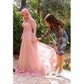 Long Sleeves Evening Dresses Muslim Gown A Line Scoop Neck Lace Appliques Vestido De Festa Formal Gowns Evening Party Gown