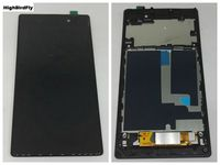 Highbirdfly For Sony Xperia Z1 L39H C6902 C6903 C6906 c6943 Lcd Display screen+Touch Panel Glass Digitizer With Frame Assembly