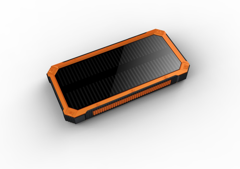 Outdoor Waterproof 20000mah Solar Power Bank Charger External Battery LED Lighting Charging PowerBank Battery Charger Cases