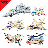 MCR hot Military Helicopter plane aircraft Soldier Chariots mini Figure Building blocks mini legoing Toys For children Christmas
