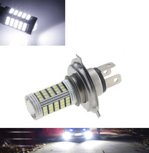 1Pcs Car H4 Led Headlight Bulbs 12W 66 SMD 6000K 500LM LED Fog Light Headlight Bulb Driving Light Daytime Running Light DRL