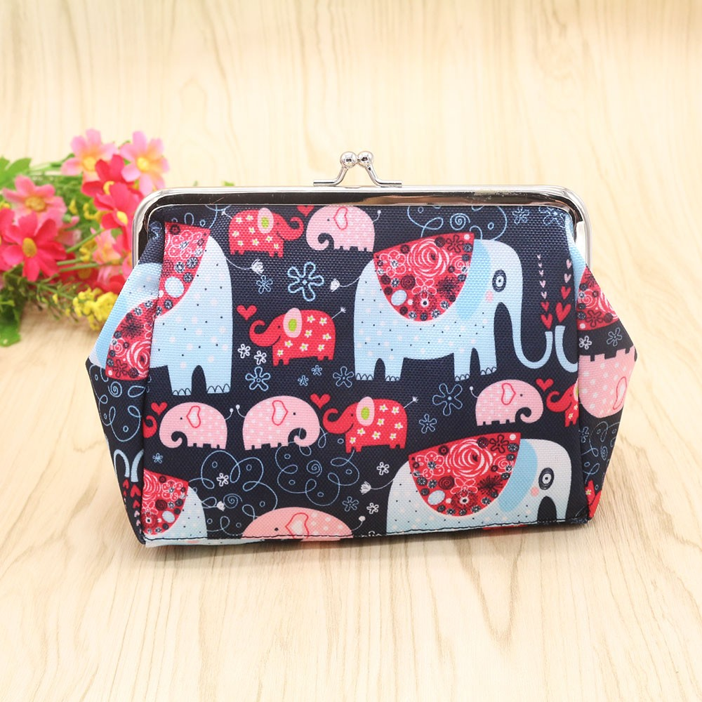 Women Lady Retro Vintage Elephant Small Wallet Hasp Purse Clutch Bag bolsa Monederos Mujer Monedas gift wholesale Free Shipping