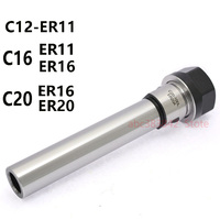 1 шт Precision0.005mm M/Тип прямой ручкой ER эластичный цанговый расширение стержня C12 C16 C20 ER11 ER16 ER20 расширение цанговый стержень