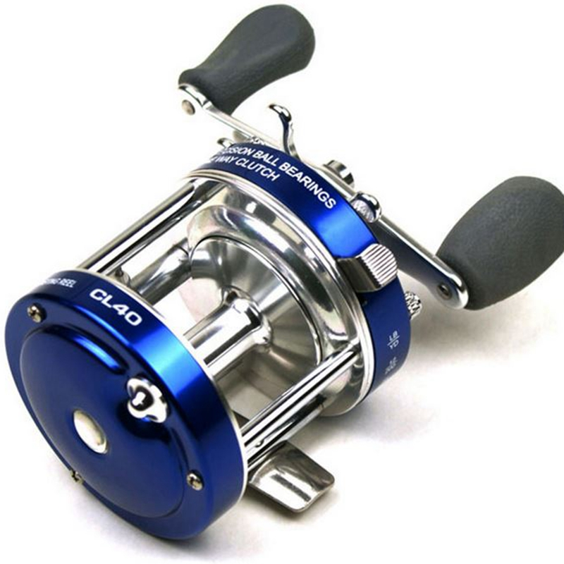 LumiParty Fishing Reel All-metal Double Brake 40 # Drums Baitcaster Reel with Oversized Handle ribbed oversized sweater with metal ring