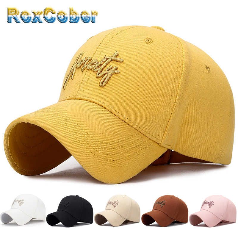 RoxCober Cotton stereoscopic Letter embroidery Baseball Cap Snapback golf Hat Fitted Cap For Men Women gorra hombre Visors 3128