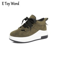 2017 New Korean All Match Thick Soled Shoes Increased Muffin Students Shoes New Korean Version Of