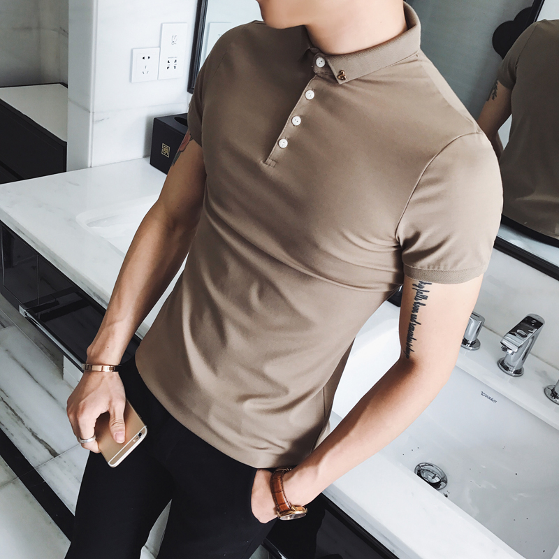 High Quality   Polo   Shirt Men Summer 2019 Slim Fit   polos   para hombre Short Sleeve Breathable Casual   Polo   Homme 8Colors