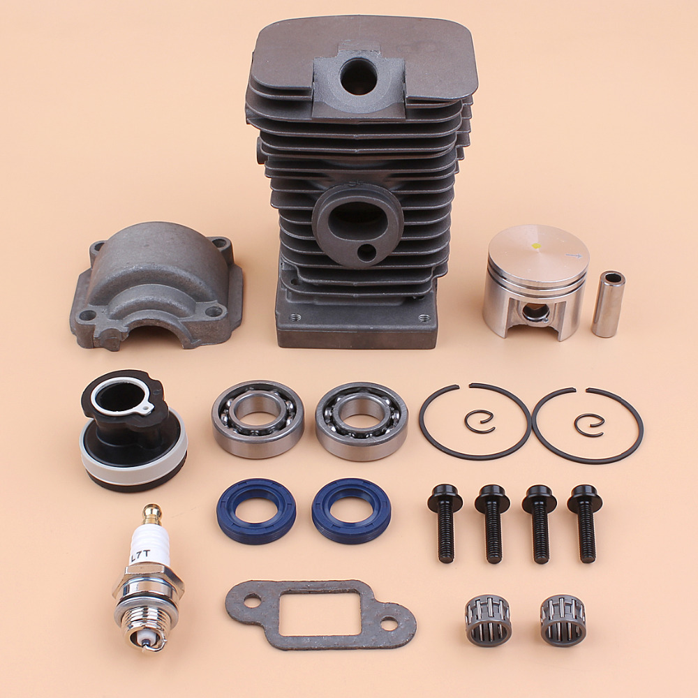 Cylinder Piston Pan Bearing Oil Seals Motor Set For STIHL MS180 018 MS 180 Gas Saws Chainsaw Engine Parts 38mm Bore 11300201208 new 38mm cylinder piston rings needle bearing kit for stihl ms180 ms 180 018 chainsaw 1130 020 1208