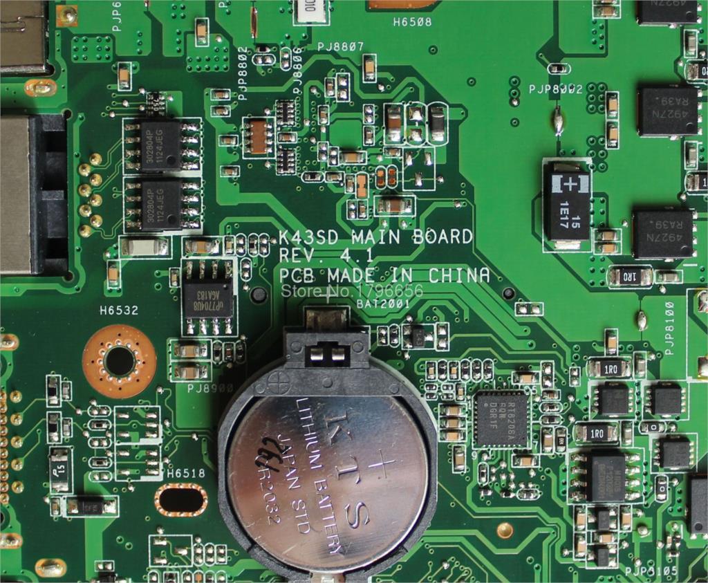 K43SD Motherboard GT610M-REV: 4.1 ASUS A43S X43S K43S K43SD A84S - Համակարգչային բաղադրիչներ - Լուսանկար 6