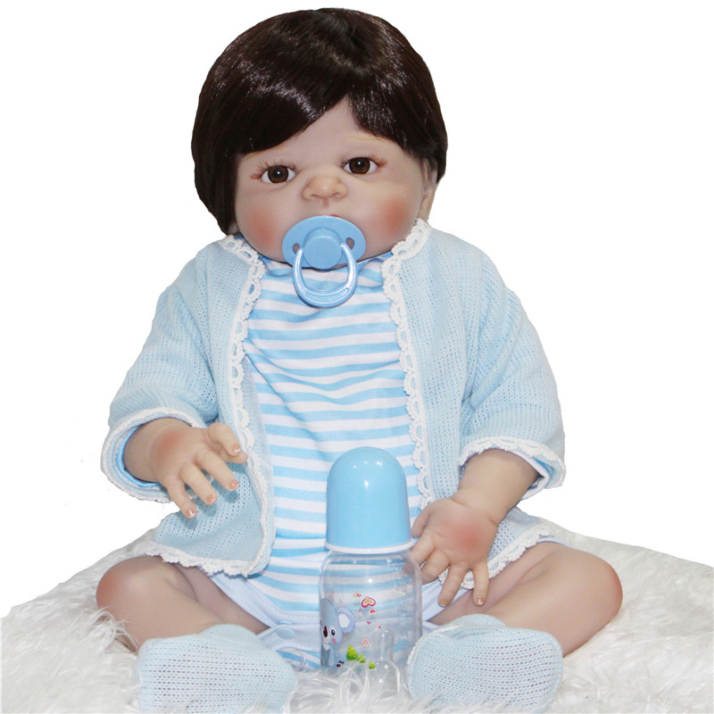 55cm real silicone reborn font b dolls b font for sale boy reborn babies magnetic mouth