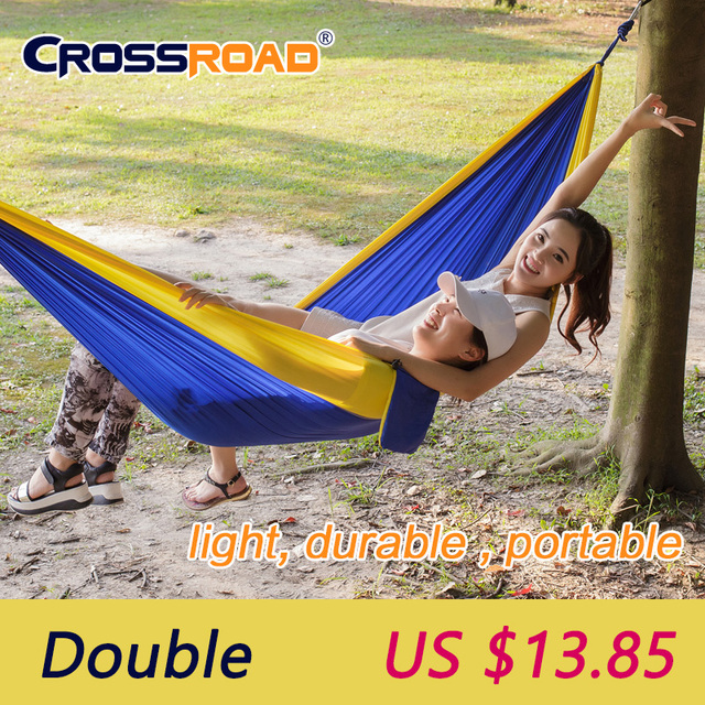 double garden swing hanging chair 2 person hammock outdoor camping sleeping bed parachute nylon rede portable