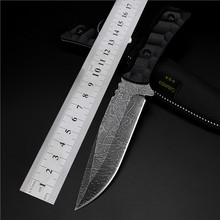 Outdoor Self-defense Hot Sale High Hardness Saber Wilderness Survival Fruit Knife Small Straight Cutting Tool for Sharp Etched