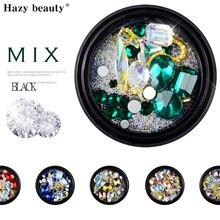 Mix 3D Nail Art Decoration Metal Rivet Rhinestone Jewelry Accessories Tips Manicure N20RK